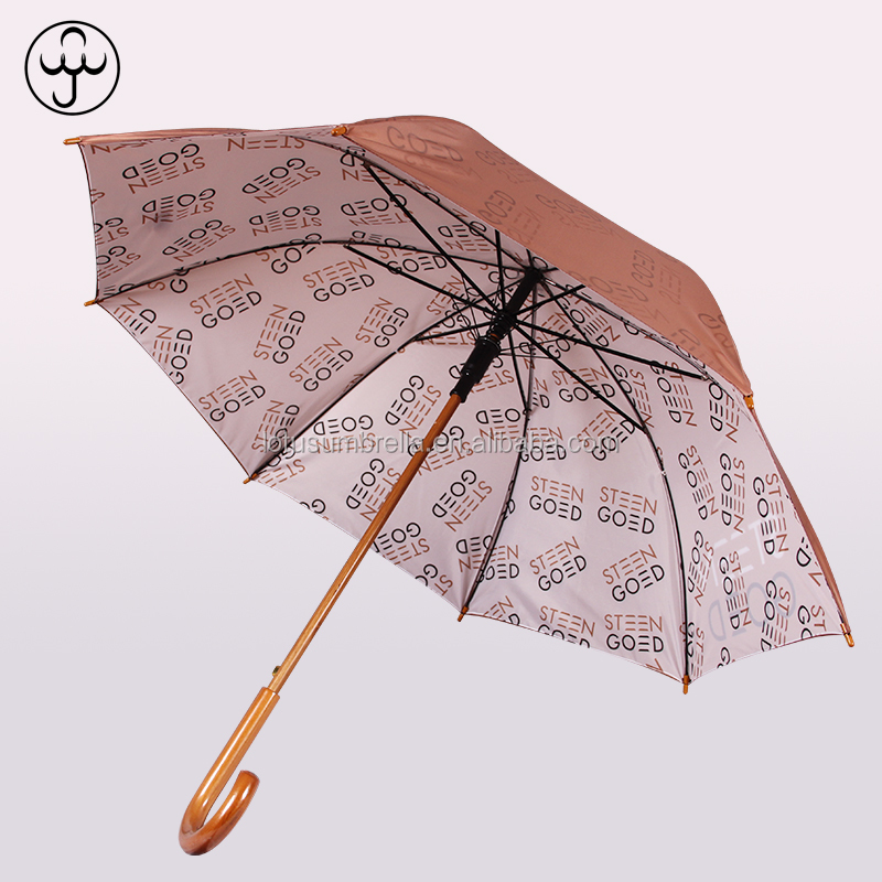 Promotion Auto Open Double Layer Custom Windproof Straight Umbrella