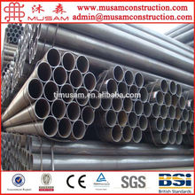 Round ERW Carbon Mild Steel Galvanized Scaffolding Pipe Specifications