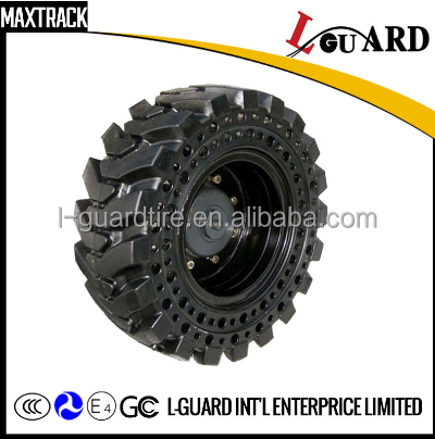 Wholesale China Best sales hot sale 10-16.5 12-16.5 solid skid steer tire with rim