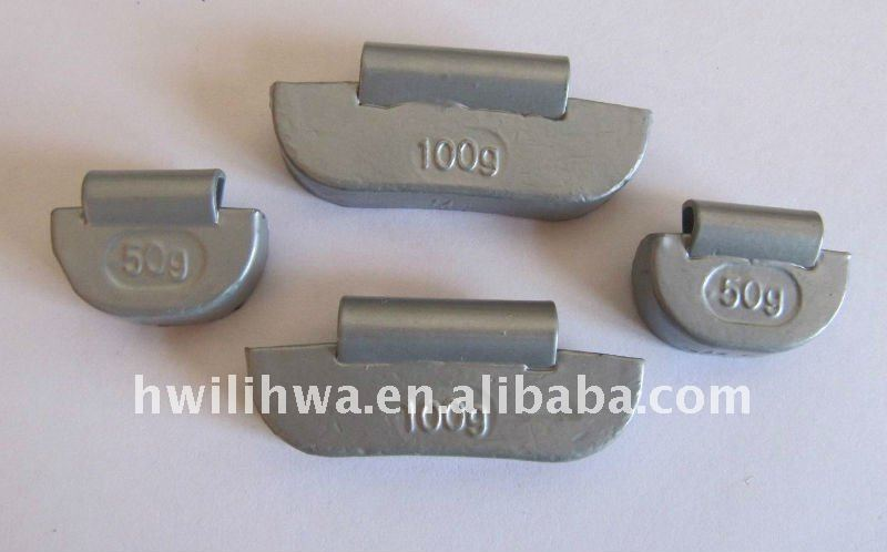 Lead / Plumbum Clip-on balancing weights for Truck Bus