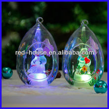 Open Christmas Glass Balls Ornaments