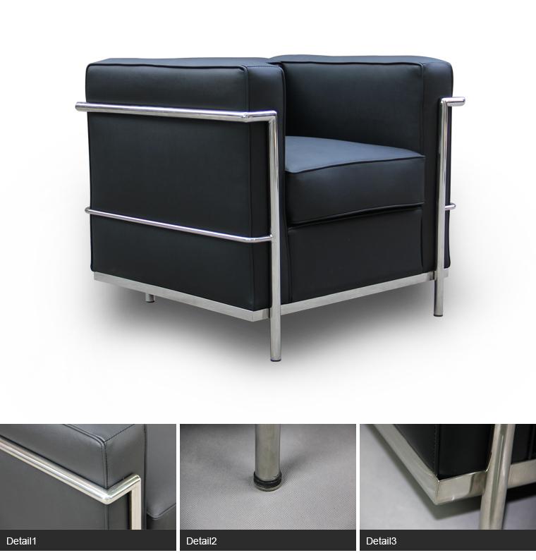 H tel meubles chrom acier tubulaire cadre le corbusier for Le corbusier meuble