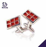Red color shiny wholesale male fashion anime cufflinks