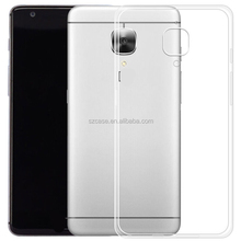 High quality soft tpu for OnePlus 3 case ,Clear transparent tpu case for One Plus 3