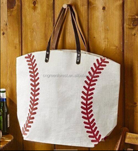wholesale canvas cotton Softball and baseball tote bags