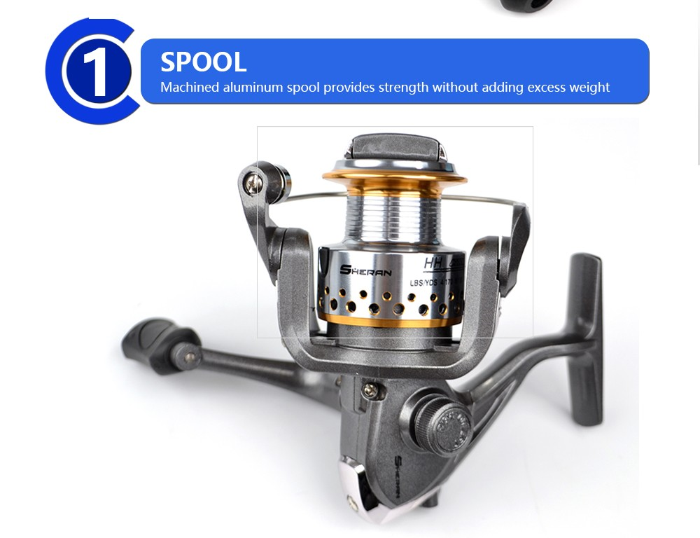 Hot New HH1000 HH2000 HH4000 6BB 5.3:1 Spinning Fishing Reel Carp Fishing Wheel Reel Metal Line Cap Pesca Tackle