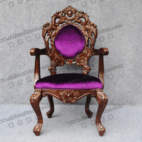 Luxury Classical Wooden Throne Chair YC- F033