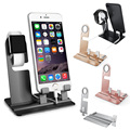 New aluminum 2 in 1 stand charging holder for apple watch, cell phone holder