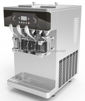 Table Top Frozen Yogurt Machine , Low Energy Consumption With Frequency Converter , Back Control System Ice Cream Machine