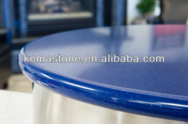 Blue Sparkle Quartz Stone Countertop