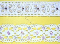 Cotton Lace Trimmings With Sequins Or Beads