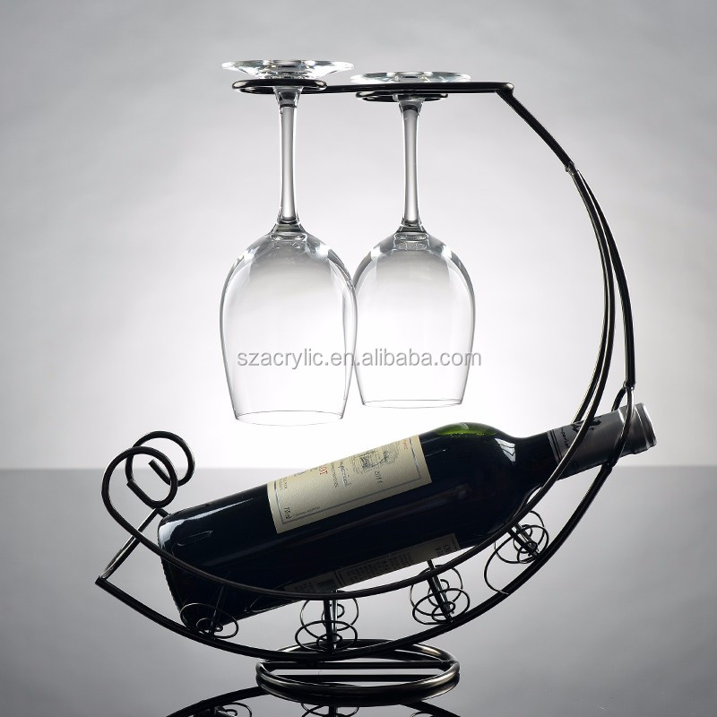 Hot Sale Metal Wine Display Rack Metal Wine Holder Metal Wine Display stand