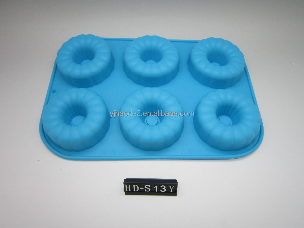 high quality silicone doughnut cake mold savarin and donut silicone mold and baking Pan