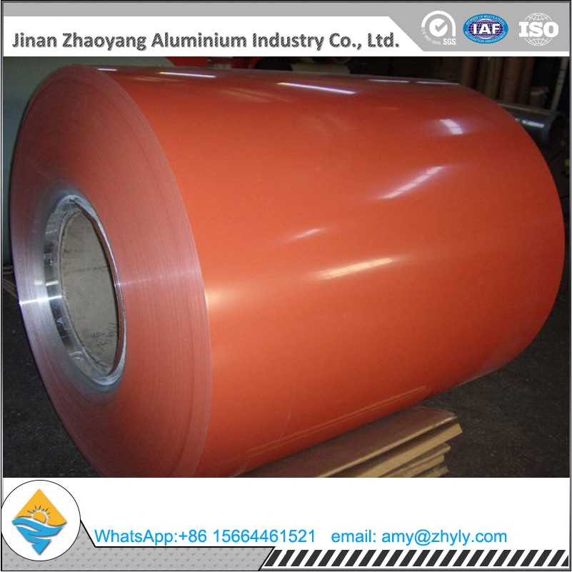 1.0mm 1050-H24 color coated aluminium coil for building