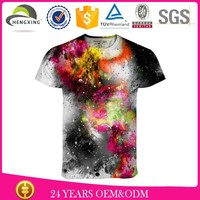 polyester digital printing t-shirt custom fashion high quality with your own design t-shirt