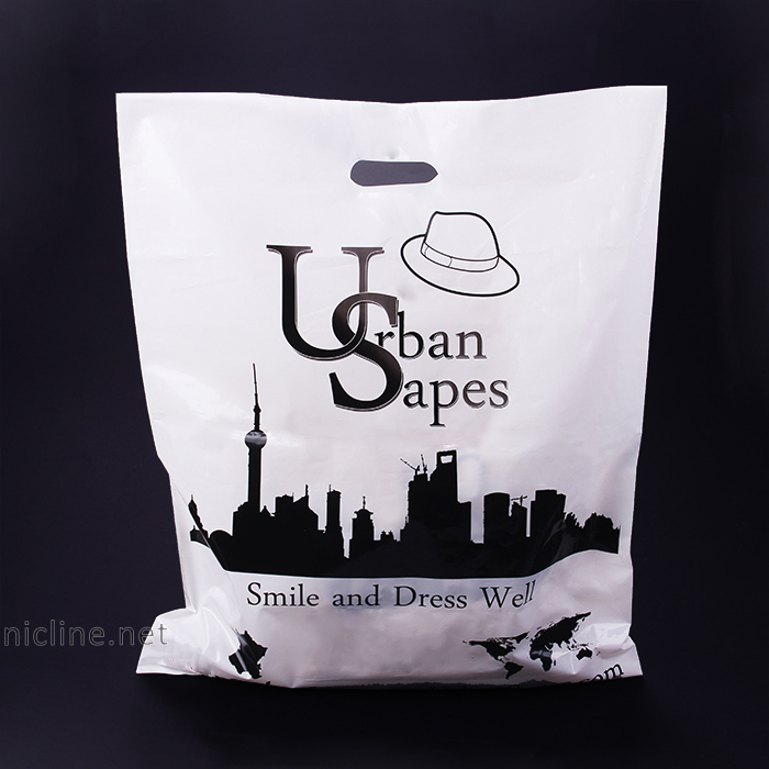 Sinicline 2016 good quality urban style comic logo designer shopping plastic bags