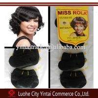 MISS ROLA AFRO-B 4pcs/Pack Short Afro Hair Extension High Quality 130g Ombre and Single Color Hair Extensions