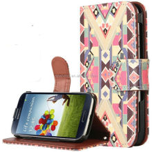 For Samsung Galaxy S4 PU Case, Retro Vintage Aztec Native Tribal Card Holder Stand Leather PU Case for Samsung Galaxy S4