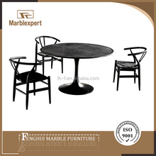 Round marble dining table set Outdoor furniture