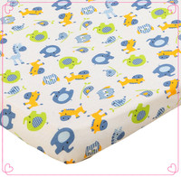 cotton jersey printing design baby crib sheets