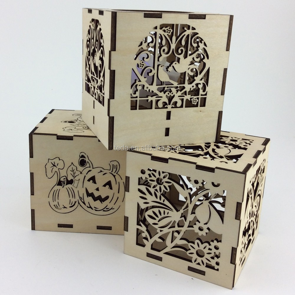 fancy design new feel wood candle box gift box packaging box