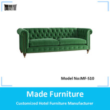 Classic velvet fabric inflatable chesterfield sofa