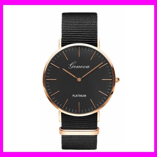 KDA2789 New fashion custom logo design military mens fabric wristband geneva watch