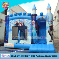 2016 Frozen Inflatable Bouncer Castle/ Inflatable Bouncy Castle with Slide