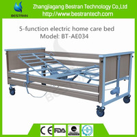 BT-AE034 Collapsible side rail steel bedboard 5-function discount home care nursing electric bed sales