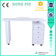 acrylic nails technician table with UV lamp