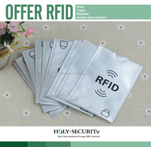 ANTI THEFT RFID BLOCKING SLEEVES FOR BANK CREDIT CARD