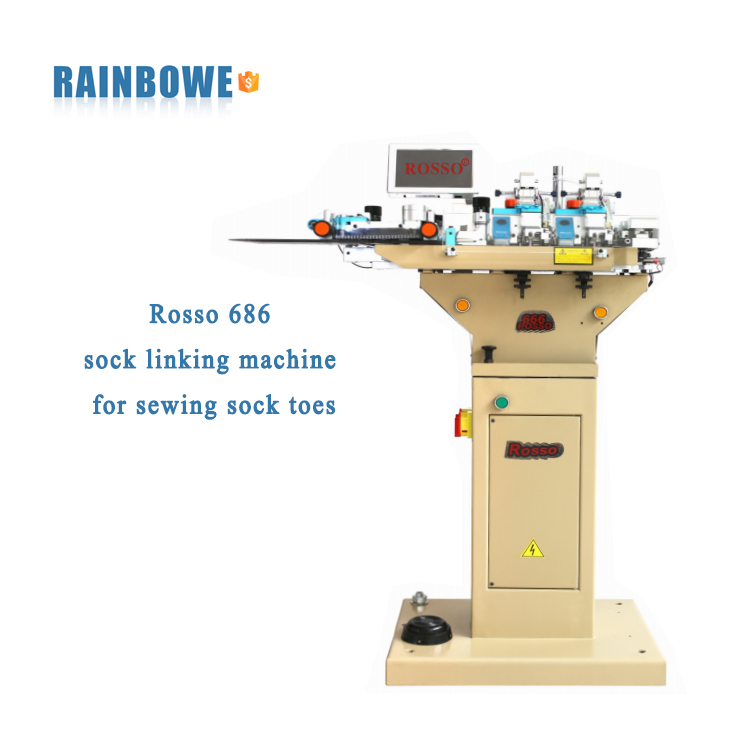 Rosso 686 sock linking machine for sewing sock toes