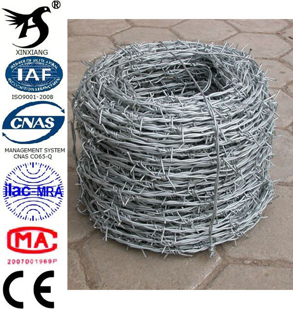 Cheap Wholesale Galvanized Decorative Barbed Wire Fencing