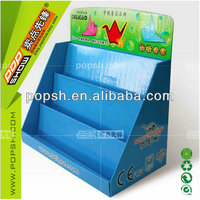 new arrival colorful fashion brand counter display box cardboard pdq