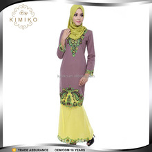 Hot Selling Traditional Baju Kurung Embroidery for Muslim Women