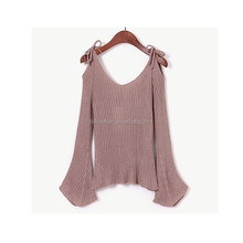 Top selling products retro style wholesale flare sleeve off shoulder top