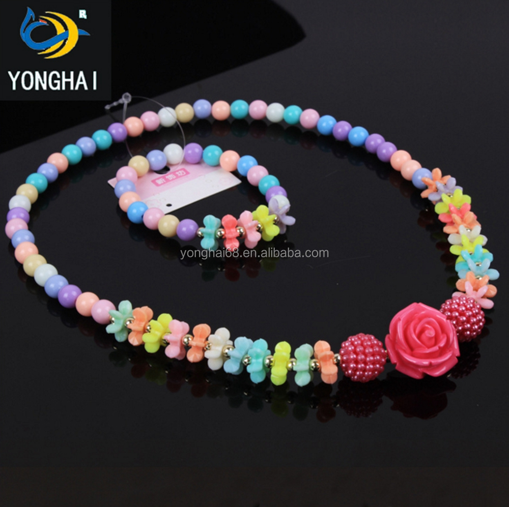 Environmental Protect Yiwu Children Accessories DIY Colorful Acrylic Pearl Beads For Bracelet/Necklace