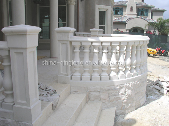 Customized roman style balcony balustrade for sale