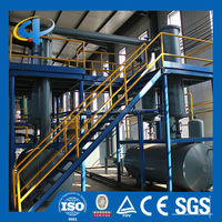 Tire recycling pyrolysis plant in rubber raw material machine