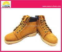 New Fashion Camel goodyear safety shoes with nubuck leather, rubber outsole and steel toe