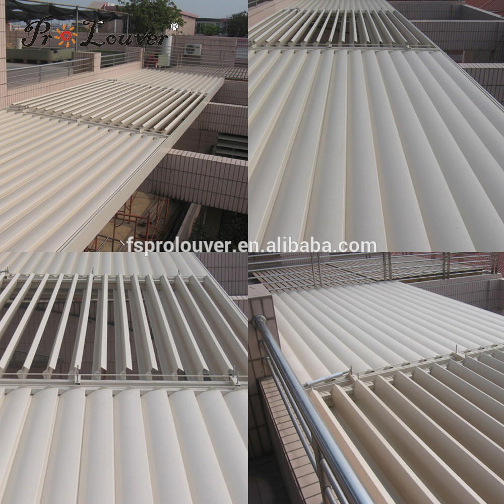 China wholesale balcony pergola opening roof waterproof louver door