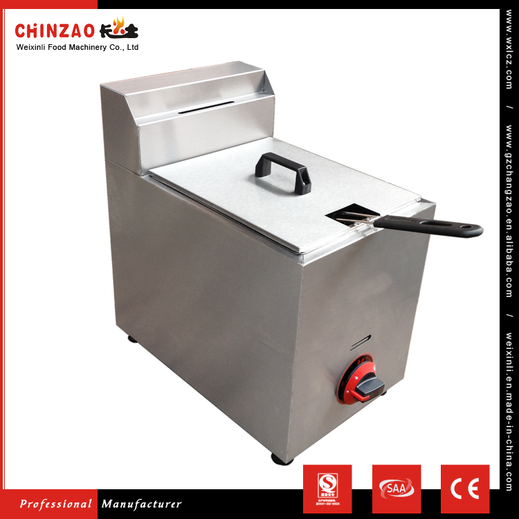 CHINZAO Chinese Most Popular Goods Commercial French Fries Gas Fryer With Temperature Control