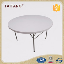 Low price round glass folding study table