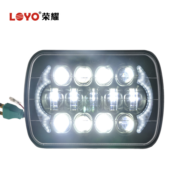 "LOYO Patent Super Bright 5"" x 7"" Rectangle LED Headlight for Jeep Wrangler YJ XJ MJ"