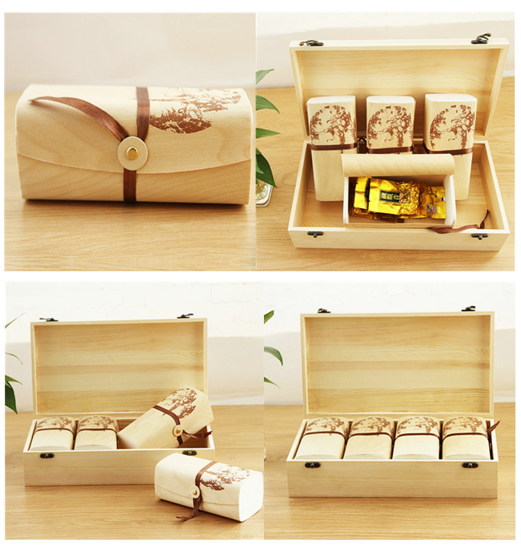 2019 Factory supply custom birch veneer wood tea bag packaging box