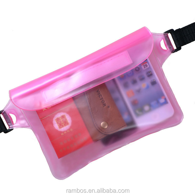 Sports blue/pink waterproof bag case for mobile phone/MP4/camera/wallets