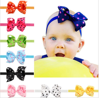 Girls Big Bows Infant Baby Flower Headbands custom elastic headbands for kids