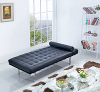 America Antique Style New Classic Leather Bed