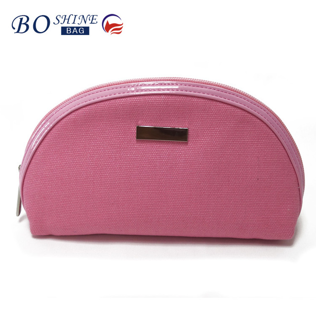 factory China BSCI wholesale canvas cosmetic bag custom makeup bag
