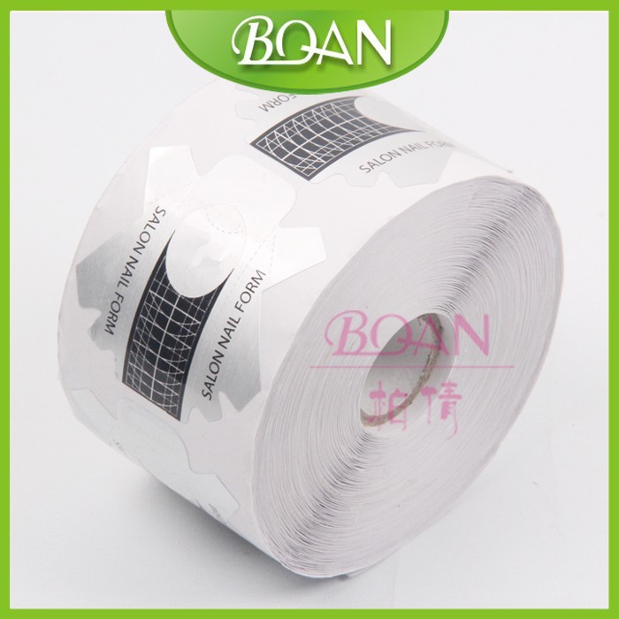 BQAN Self-adhesive 500Pcs/Roll Professional Nail art Form Decor Styling Tools Nail Acrylic Tip Extension Sticker